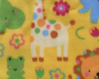 Remnant - Nursery Animals ABC Fleece Fabric 27in