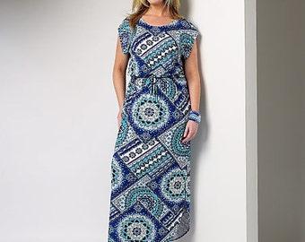 Butterick Sewing Pattern B6210 Women's/Women's Petite Elastic-Waist Dresses