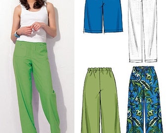 McCall's Sewing Pattern M6568 Misses'/Miss Petite Elastic-Waist Shorts and Pants