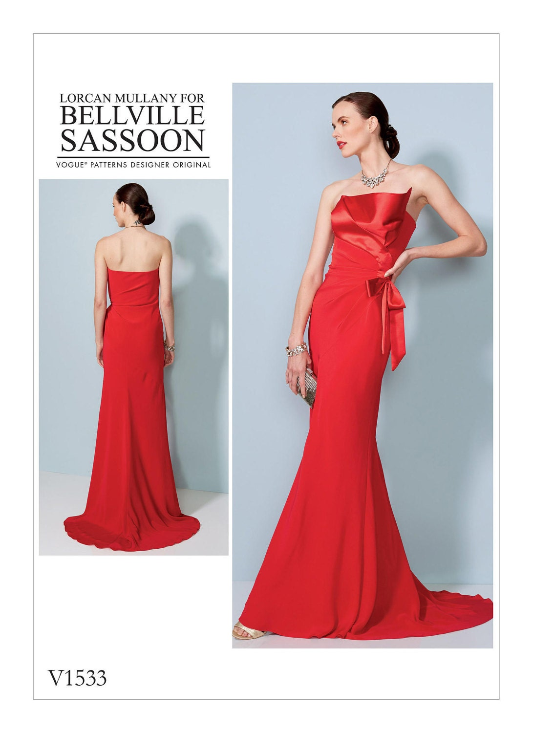 Vogue Sewing Pattern V1533 Misses\' Strapless, Front-Drape Dress With ...