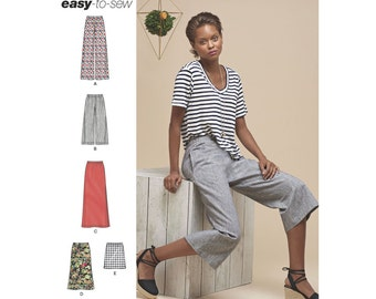 Simplicity Sewing Pattern 8299 Misses' Skirts or Pants in Various Lengths