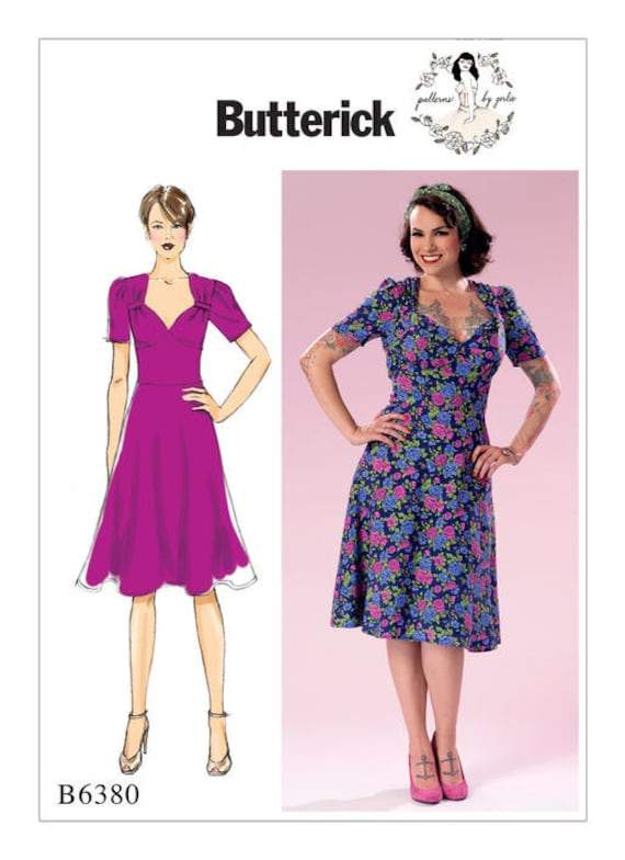 Butterick Sewing Pattern B6380 Misses\' Sweeheart-Neckline | Etsy