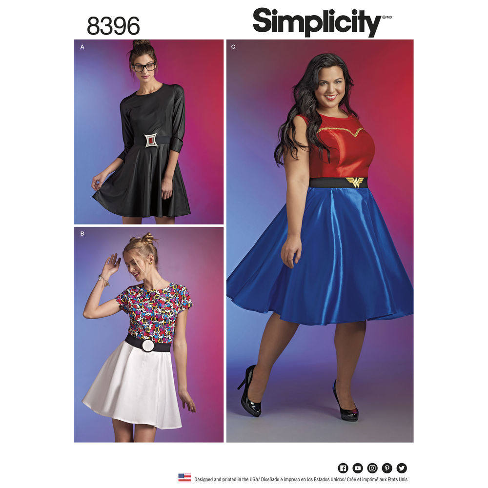 Simplicity Sewing Pattern 8396 Plus Size Cosplay Dress