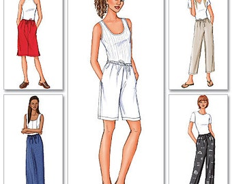 Butterick Sewing Pattern 3460 Misses'/Misses' Petite Elastic-Waist Skirts, Shorts and Pants