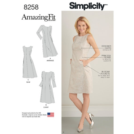 b0851ebf76 Simplicity Sewing Pattern 8258 Misses  and Plus Size