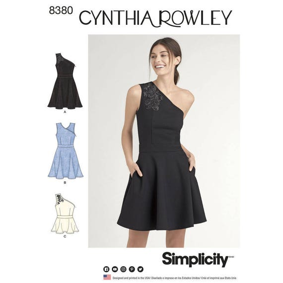 Simplicity Sewing Pattern 8380 Misses Knit Dress Or Top Etsy