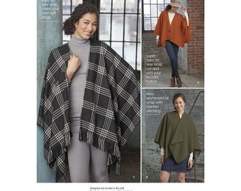 Simplicity Sewing Pattern 8173 Misses' Fleece Poncho Wraps