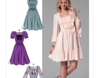 McCall's Sewing Pattern M7500 Misses' Gathered and Ruched Dresses