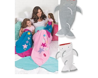 Simplicity Sewing Pattern 8275 Novelty Blankets For Child, Adult