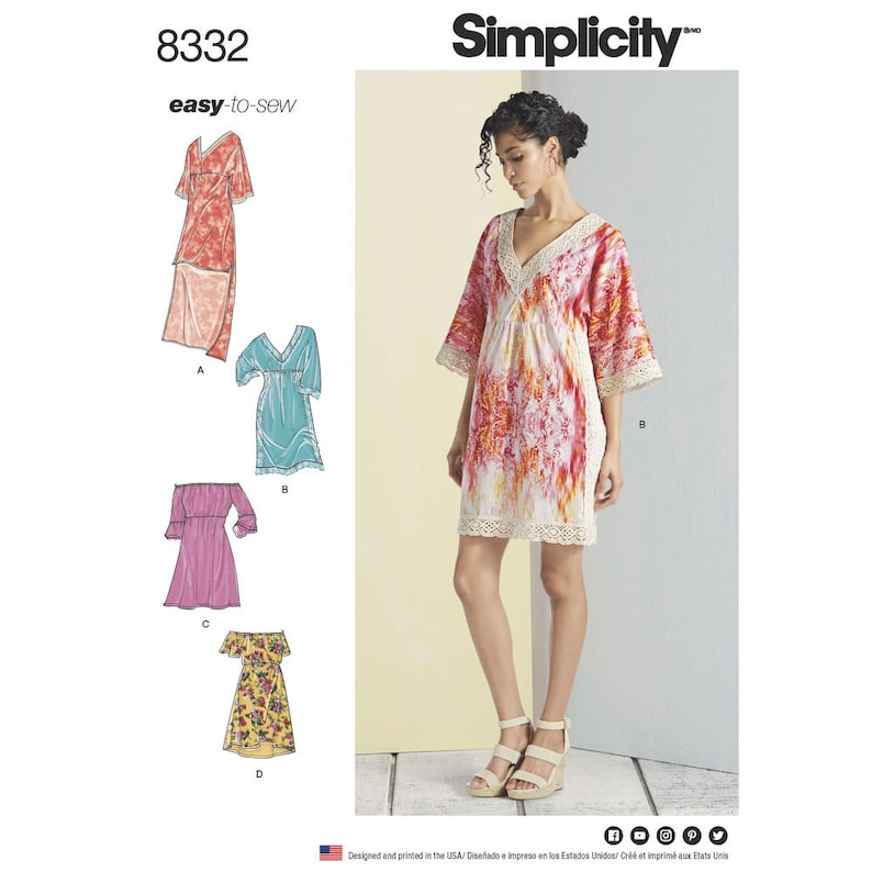 4d2e20bee50 Simplicity Sewing Pattern 8332 Misses  Dresses