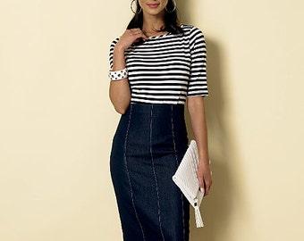 Butterick Sewing Pattern B6326 Misses' Raised-Waist or Elastic-Waist Skirts