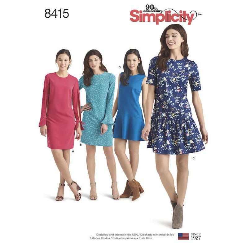 0fd1187980f8 Semplicità per cucire modello 8415 Misses   Miss Petite Abiti