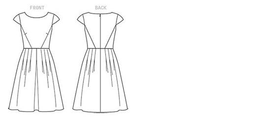Vogue Sewing Pattern V1499 Misses\' Cap Sleeve | Etsy