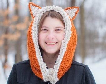 4a446340a2f Adult Fox Hood Hat