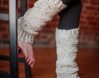 Womens Classic Leg Warmers - Hand Crochet Legwarmers - 3 sizes available