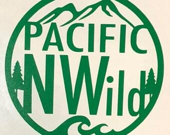 PacificNWild Vinyl Decal - Pacific North Wild - PNW - Sticker - Pacific Northwest