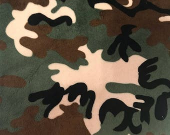 Camouflage minky fabric