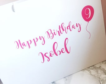 Birthday Bag Gift With Name And Age Personalised Party Happy