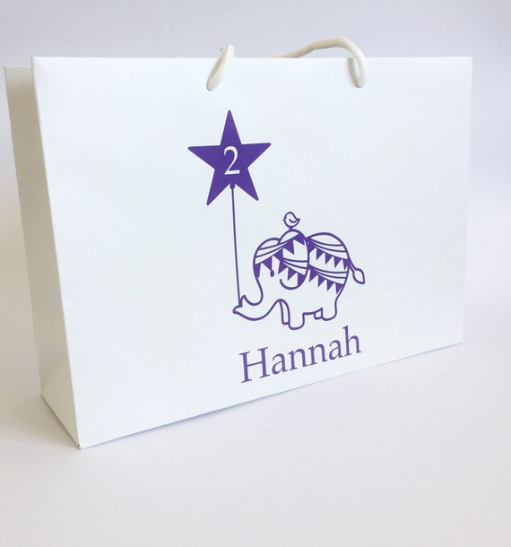 Birthday Gift Bag With Name Personalised Elephant