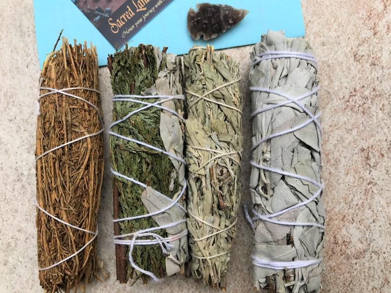 CLEANSE-4 Sage Bundle Pack-CA White Sage Desert Blue Sages Sages Only