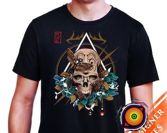 Death Head - Hawk Moth Styx Skull Tattoo Original Vintage Designer Shirt