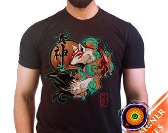 Okami Sun Goddess - Okami T-Shirt Amaterasu Sun Goddess Wolf Video Game Shirt