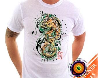 Seahorse- Seahorse T-Shirt Artsy Wildlife Ocean Sea Creature Nautical Shirt