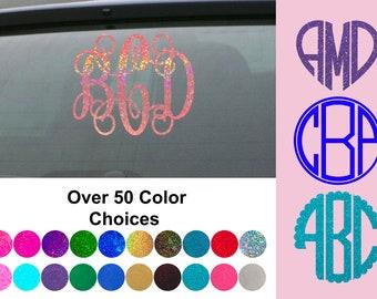 Monogram Decal - Monogram Sticker - Monogram Decals - Monogram Laptop Decal - Monogram Car Decal - Cup Decal - Graduation Gift