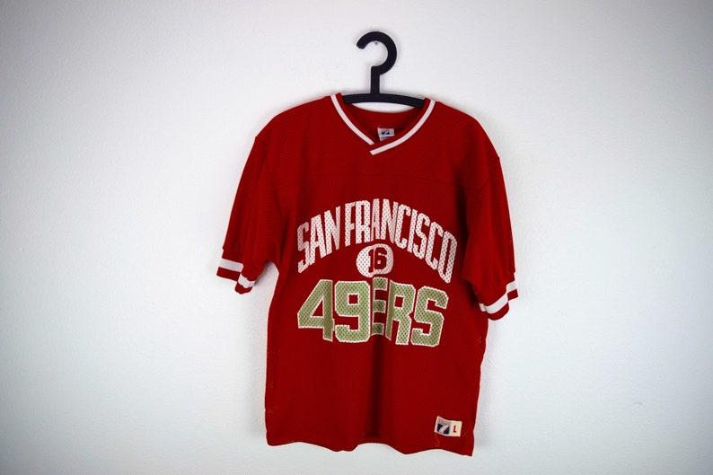 f52a2d21c19 1980s San Francisco 49ers Mesh Jersey Shirt by Logo 7   16