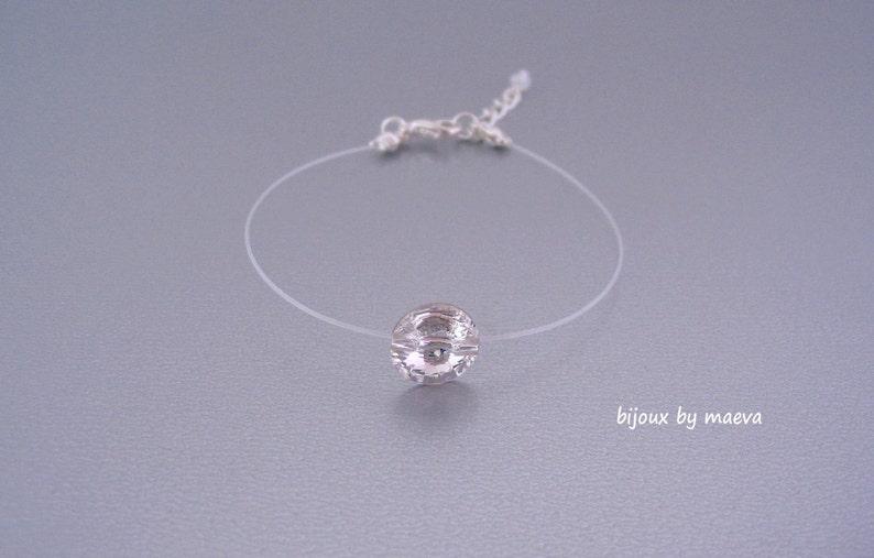 10d5ffab78e7 Joyería de la pulsera de hilo transparente y diamantes de