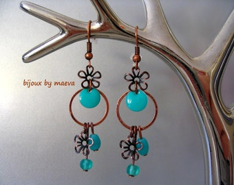 Costume jewelry turquoise earrings turquoise green opal