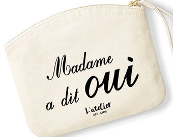 T5W Kit Madame said yes Kit organic Toiletry Kit to offer, centerpiece, personalized Pouch Gift