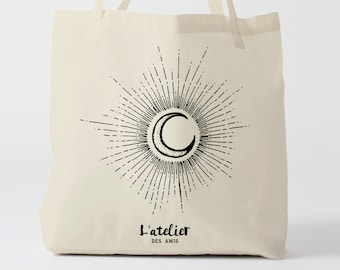 X272Y tote bag moon, canvas bag, cotton bag, shopping bag, custom tote bag, personalized tote bag, tote gift,  tote bag personalized