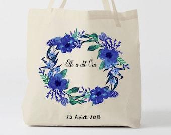 W124Y Tote bag personalized bride, bridesmaid bag-canvas bag, groom wedding Tote Bag, Tote, tote bag, bachelorette party