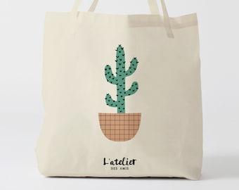 X219Y tote bag cactus, bag canvas cotton bag, diaper bag, handbag, tote bag, bag of race, current bag, shopping bag, gift for friend