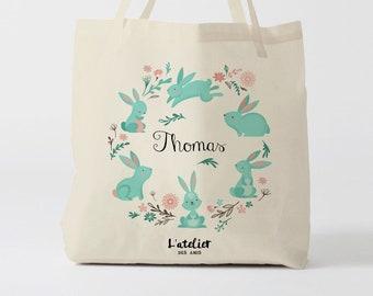 500a42fe4e X610Y Tote bag personnalisable enfant, sac en toile, sac pour pâques, sac à  langer, sac de courses, sac d'école, sac de plage, shopping bag