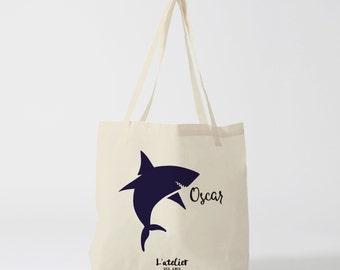 X228Y Tote Bag Requin Enfant Personnalisable, sac à main, sac fourre-tout, sac à langer, sac cours, sac plage, sac en toile,sac coton