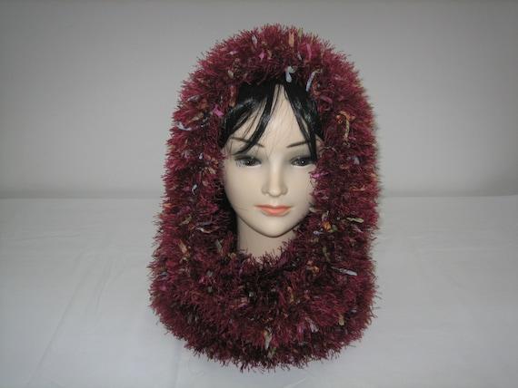 Fancy wool hooded Snood