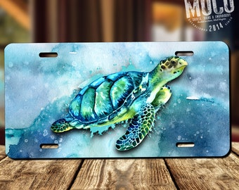 Sea Turtle Novelty License Plate Decorative Front Plate 6 X 12