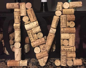 Wine Cork Letter / Wine Cork Initial / Wine Cork Decor / Home Decor / Wine  Cork Monogram / House Warming Gift / Bar Decor / Kitchen Decor