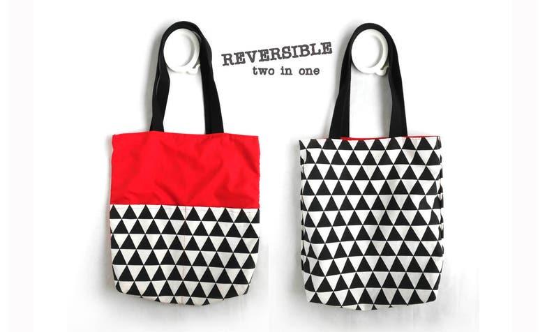 438d461a91935 Płótno dźwigać torba geometryczna czerwone płótno torba na