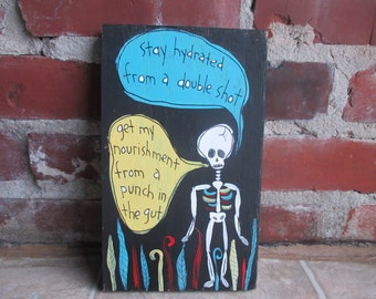 Mewithoutyou Lyrics Painting On Salvaged Wood In A Sweater Etsy