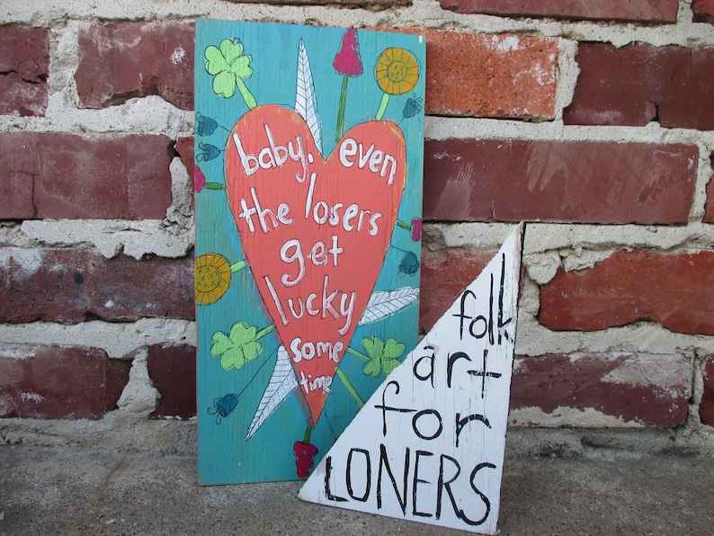 Tom Petty Lyrics Painting On Recycled Wood Even The Losers Lyric Art Song Quote Hand Painted Music Wall Art