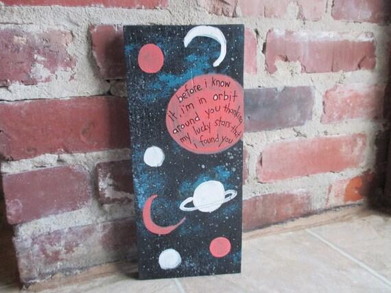 Tom Waits Lyrics Painting On Salvaged Wood Little Trip To