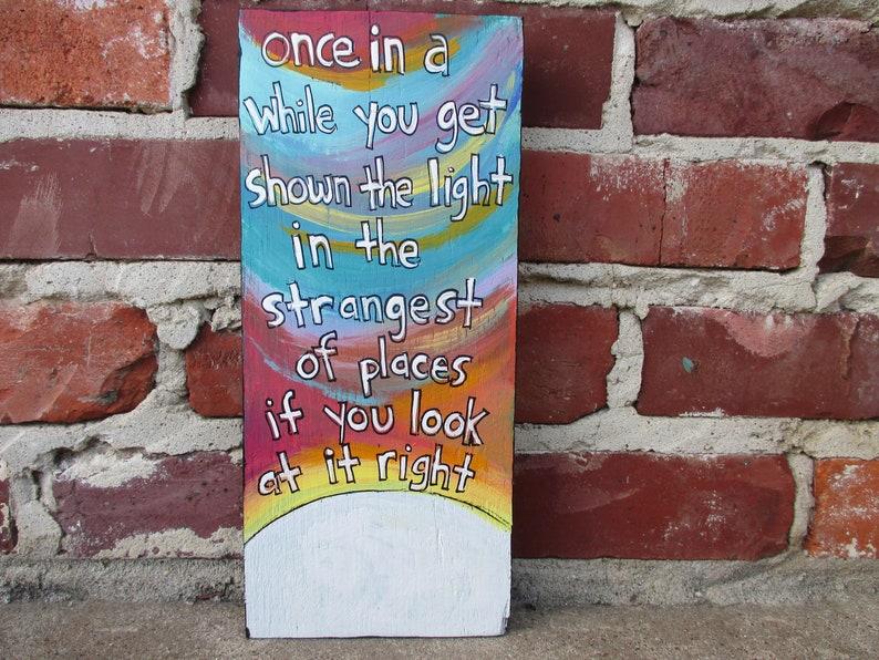 grateful dead lyrics painting on recycled wood scarlet
