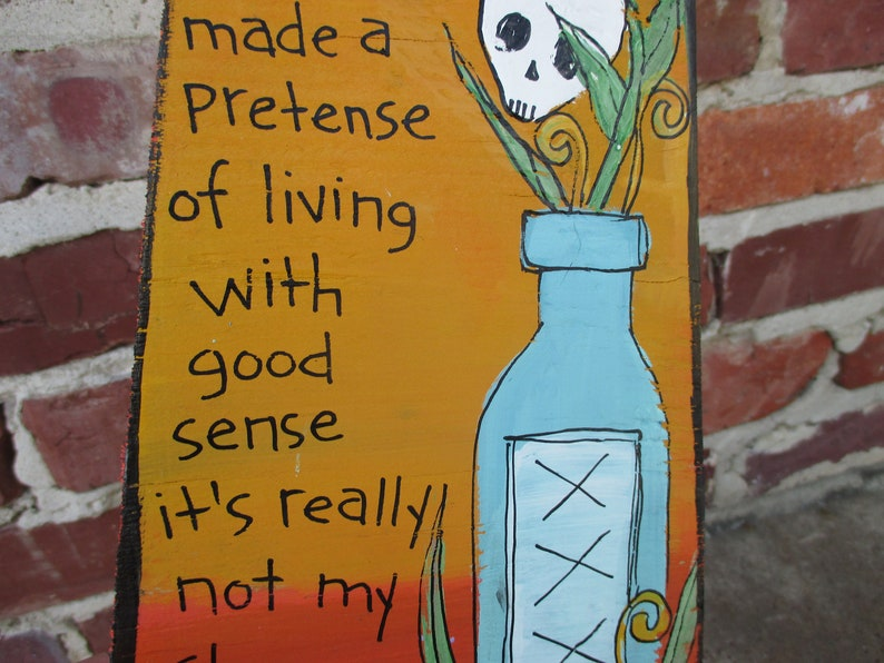 John Frusciante lyrics painting on recycled wood John Frusciante quote art A Firm Kick song lyric wood sign hand-painted lyric wood sign