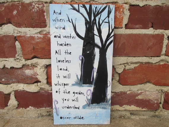 Oscar Wilde Poetry Painting On Salvaged Wood To My Wife Poem Etsy