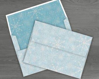 5 x 7 envelope etsy studio printable snowflake envelope diy glitter winter envelope template holiday greeting card holder digital 5x7 christmas card stationery papers m4hsunfo