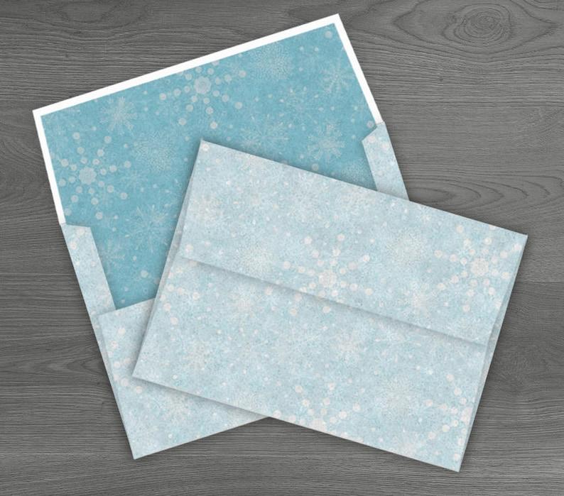 DIY Printable Envelope Snowflake Winter Template Kit
