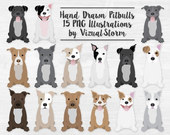 Pitbull Clipart, Sitting Dogs Clip Art, Pet Scrapbooking Graphics, Staffordshire Terrier Images, American Pit Bull Terrier, Pitbull Lovers